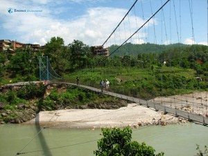 4. Ah the suspension bridge