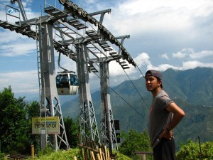 9. Awed by wonders of cable car Hitesh