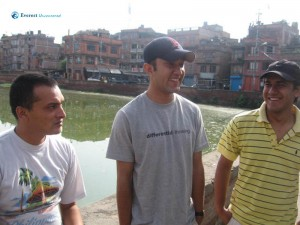 10. Bimal Koirala aloof in between smiles of Hitesh Karki and Sajan Sangraula