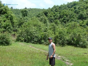 41. Hitesh karki poses in the jungle during the hiking
