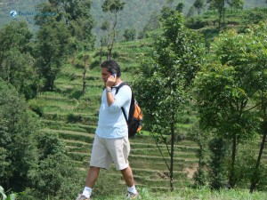 73. Rudra Pandey conducts business even during hiking trekking