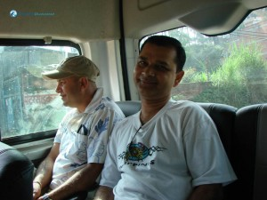 83. Smile of Sharad Pokharel in the van