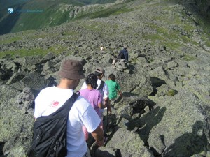 34. Lets rush down Mt Adams peak before the weather is worst in the world