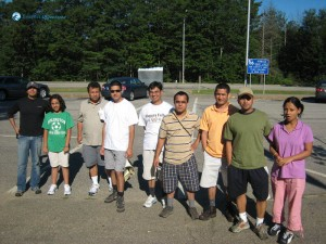 56. The hikers are ready to conquer Mt Adams USA