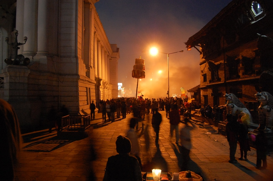 """Holi"" Evening in Basantapur"