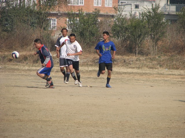 shankar subedi trying to reclaim the ball