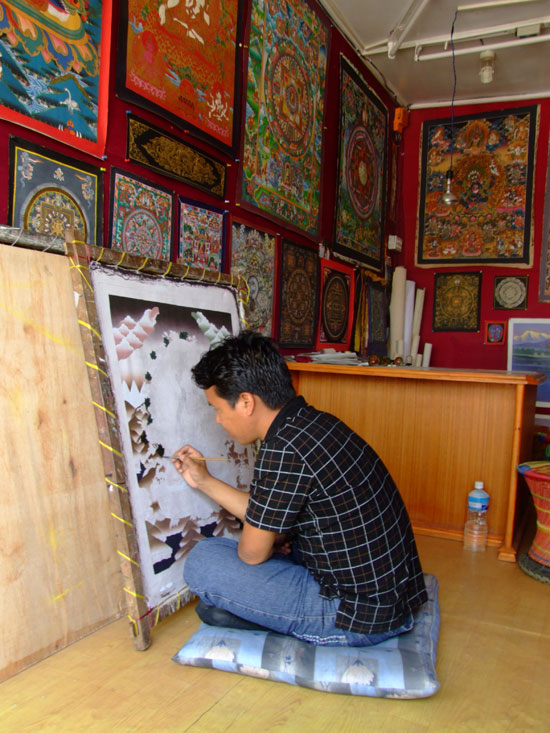Painting a Thanka