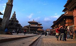 An Evening at Patan Durbar Square