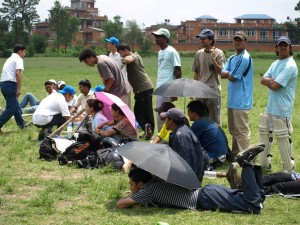 watching cricket in scorching heat aint easy