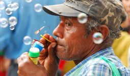 An old man and his Bubble Pipe