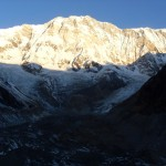 Annapurna I and the bend of South Annapurna Glacier (Photo: Billa)
