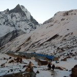 Annapurna Base Camp with Machhapuchhre behind it (Photo: Billa)