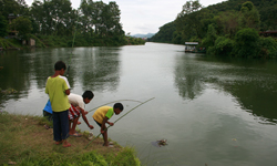 Fishing in Fewa Lake