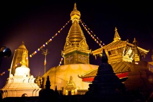11 Swayambhunath with lights allover