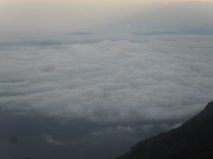 sea of clouds.