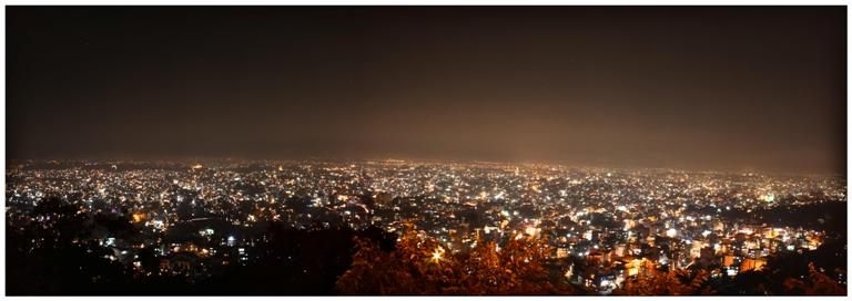 Kathmandu City In The Eve of Tihar