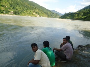 40 By the confluence of Sunkoshi and Indrawati..