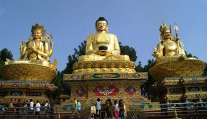 11. I wonder who are those two on either side of Buddha...