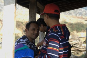 Sharing Smiles after long tough Trekking