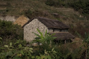 Typical Nepali Village Green Home