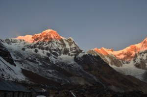Sun rays at north of Annapurna
