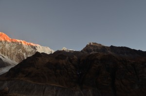 South of Annapurna during sun rise