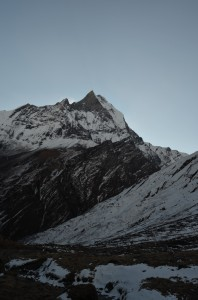 Machhapuchhre on the way back