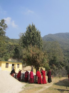 08. The Buddha Buddhist nuns in Monastery in Shivapuri National Park Nepal