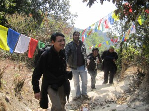 12. Basanta Neemesh Ujjwal pulling Rupesh towards the Shivapuri peak