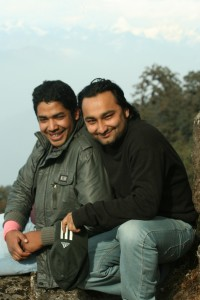 14. Duo posing for nice shot at Shivapuri Peak Nepal