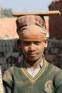14. child labor working in brick factory