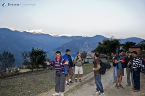 25. A little further away from Samdi, this was where we started gettign the first glimps of the Himalays