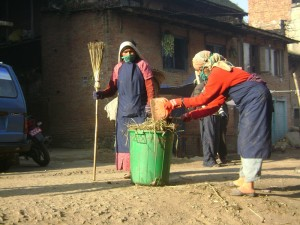 31. lets make our place clean, daily chores at Khokana