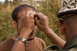 61. Gobar Dhowj Gurung in the picture with the cap on who served us lunch at his place.