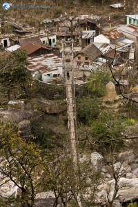 65. a view of the bridge at Khudi from the top and it was a 4 hours hike from Ghaley Gaon to Khudi we reached at 5 30