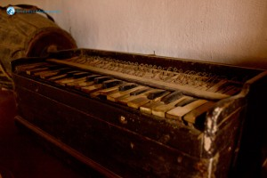 14. Antique harmonium in the museum