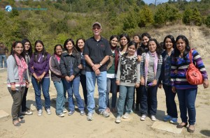 34. Jeff with most of the ladies from Deerwalk