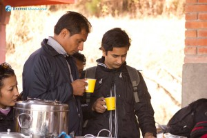 4. During breakfast