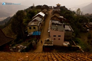 43. A view from the window of a village at Nuwakot..