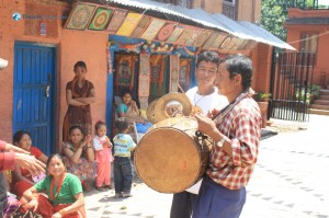 23. Local people having a festival