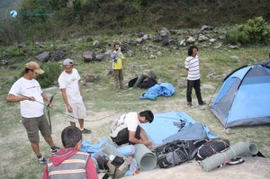 37. Busy making tents