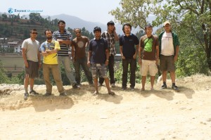 4. Hikers posing for a group photo