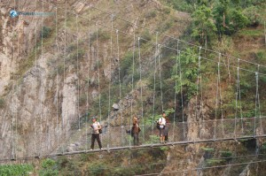 58. Three hikers reached three minutes earlier