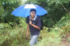 7-Under the blue umbrella