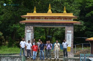 07. The Maula kali hikers posing in chitwan at welcome gate