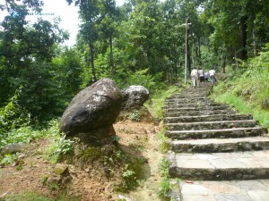 14. Another 1.5 kilometers uphill staircase
