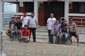 23. All hikers posing in front of Maula Kali Temple, Narayangadh