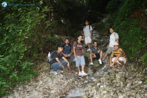 9. Posing in the rivulet