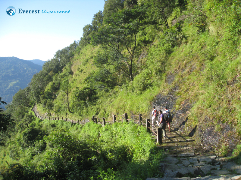 Hiking from Nayapul to Ghandruk