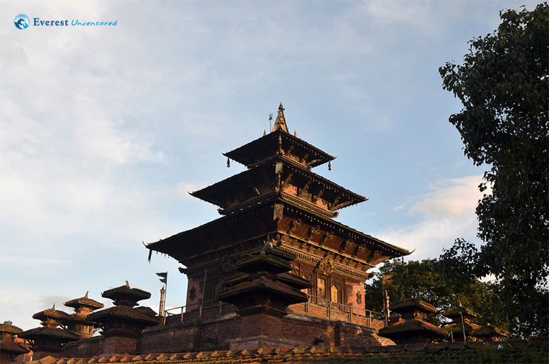 Three-stores traditional pagoda style temple: Taleju